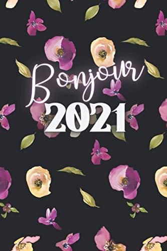 Bonjour 2021: Carnet avec Pages noires pour stylo à gels néons - Agenda créatif mensuel pour les amateurs de néons, d'or, de stylos en gel pailleté – ... et carnet de notes...