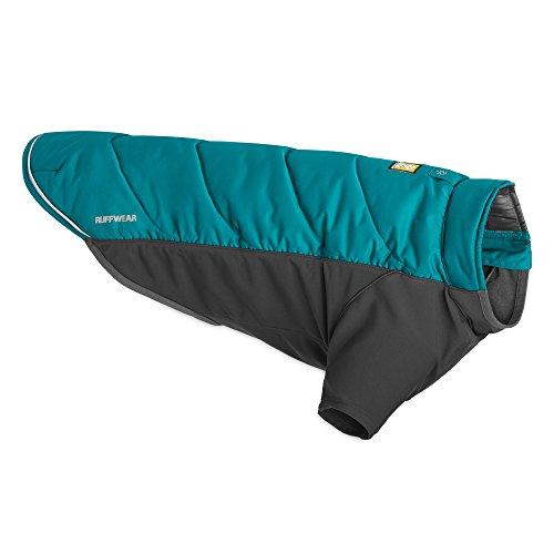 Ruffwear Isolierende Hunde-Jacke mit Fleece-Innenfutter, Wind- und wasserabweisend, Große Hunderassen, Größe: L, Blau (Baja Blue), Powder Hound, 0570-450L