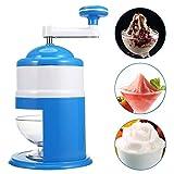 LOISK Rasierte Eismaschine, Eiscrusher, Grinder Shaver Haushalt manuelle Ice Chipper Schneekegel Maker Maschine mit Handkurbel