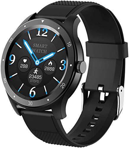 Reloj Inteligente Y Monitoreo Del Sueño 1.3 Pulgadas HD TFT IPS Color Pantalla Táctil Pulsera 200Mah Batería Multi Modo Deportivo Blanco-Negro