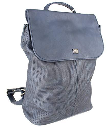 BERNARDO BOSSI Hochwertiger Damenrucksack Rucksack Damen Daypack Frauen Tagesrucksack Tasche Verschiedene Modelle (M1 blau)