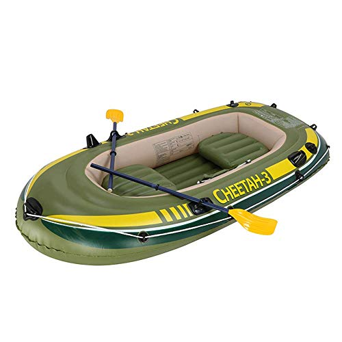 Sale!! L&WB Kayak Inflatable Thick Wear-Resistant Fishing Boat Fast Travel Canoe, 3 People