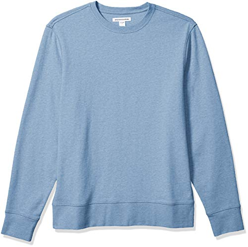 Amazon Essentials Men's Long-Sleeve Lightweight French Terry Crewneck Sweatshirt, Blue, X-Large