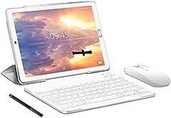 Tablet 10.0 Pulgadas YESTEL Android 10.0 Tablets con 4GB RAM + 64GB ROM - /WiFi | Bluetooth | GPS, 8000mAH, con Ratón | Teclado y Cubierta-Dorado…