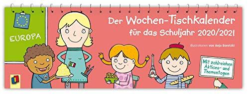 Der Wochen-Tischkalender für das Schuljahr 2020/2021: Mit zahlreichen Aktions- und Thementagen