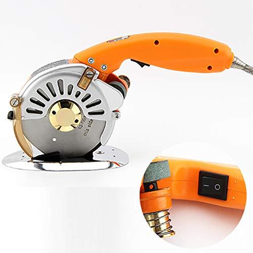 Elektrische Rotary Fabric Cutter Machine, Met LED-Verlichting, Verstelbare Messnelheid Voor Het Snijden Stof, Leer, Zijde En Doek