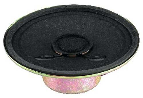 MONACOR SP-2RDP miniatuur-inbouwluidspreker, 8 ohm, 50 mm zwart