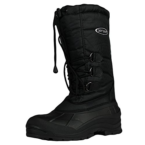 Dirt Boot Thermal Wellington Winter Fishing Snow MUCK Boot (Mens Size 9 (43)) Black