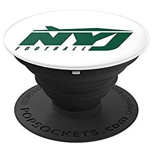 NYJ   New York Football NY Sports Fans Jet Gift PopSockets Grip and Stand for Phones and Tablets