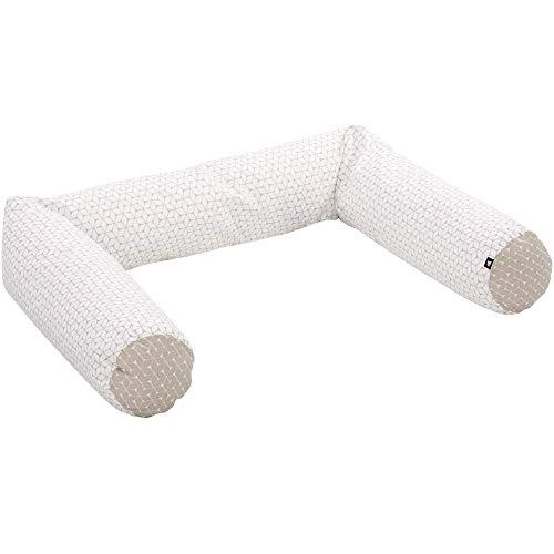 Alvi Nestchenschlange für Kinderbett und Kommode Raute taupe 180 cm