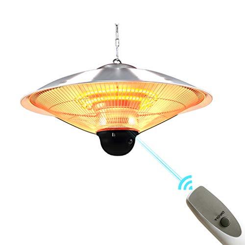 YINxy Terassenheizstrahler, Einstellbare Leistung Infrarot Halogen Elektrische Lichtheizung, Deckenbehang, intelligente Fernbedienung, Zwei Gänge einstellbar