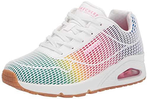 Skechers 155131/WMLT UNO-Eye Catching Damen Sneaker Turnschuhe weiß/bunt, Größe:40, Farbe:Weiß