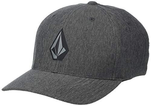 Volcom mens Stone Tech Flex Fit Hat Baseball Cap, Dark Charcoal, Large X-Large US