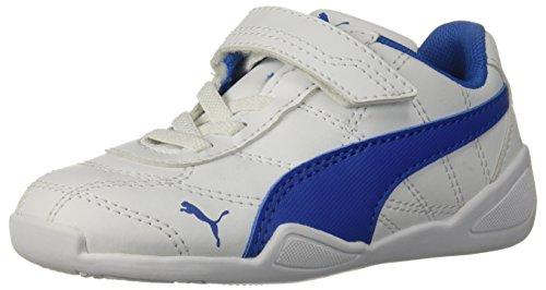 PUMA unisex-baby Tune Cat 3 Velcro Sneaker, White-Strong Blue, 5 M US Toddler