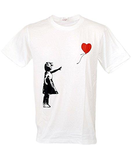 Tshirtmystyle-Kid Leave Heart Balloon Banksy Men T-Shirt