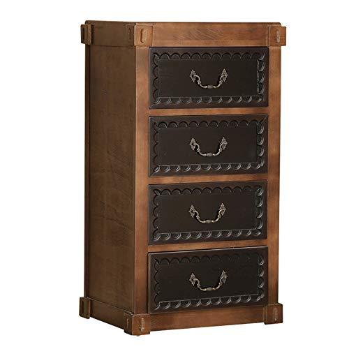 KX-YF Commode à Poser Commode en Bois Chambre américaine Cabinet Salon Armoire de Rangement tiroirs Blanc Mobilier Hall d'entrée (Color : Walnut, Size : 45x34x80CM)