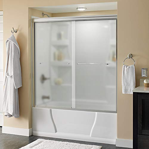 Product Image of the Delta Shower Doors SD3927408 Classic Semi-Frameless Traditional Sliding Bathtub 60' x58-1/8, Chrome Track