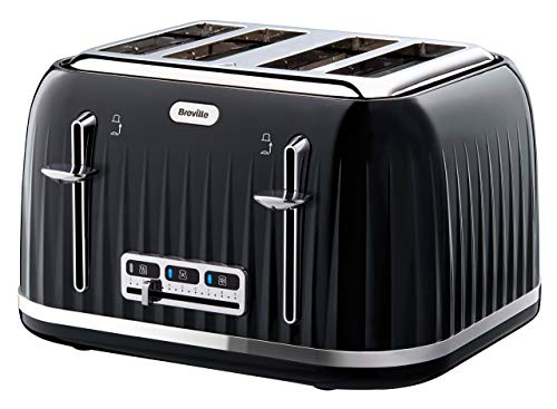 Breville VTT476 Impressions 4-Slice Toaster with High-Lift and Wide Slots, Black (Renewed)