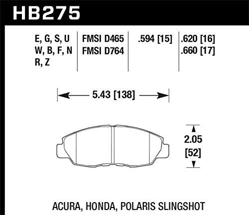 Hawk HPS HB275F.620 High Performance Front Brake Pads