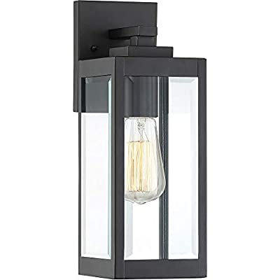 "Quoizel WVR8405EK Westover Modern Industrial Outdoor Wall Sconce Lighting, 1-Light, 100 Watt, Earth Black (14""H x 5""W)"