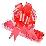 WXJ13 - Pack de 30 lazos de color rojo para cesta de regalo. Con cinta. Para envolver regalos, para Navidad, bodas, San Valentín, decoración, etc.