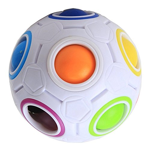 Cisixin Rainbow Magic Ball Puzzle 3D Giocattoli Creative ed Educative per Risolvere