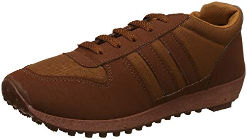 Unistar Men's Brown Sneakers-10 UK (44 EU) (034_BRN_10)
