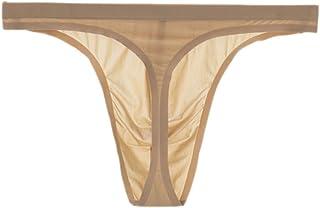 bb59edb33 Soojun Mens Traceless Sexy Thongs Low Rise Underwear Ice Silk Briefs