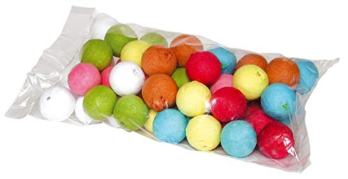 50 Wattekugel-Mix farbig, 20mm