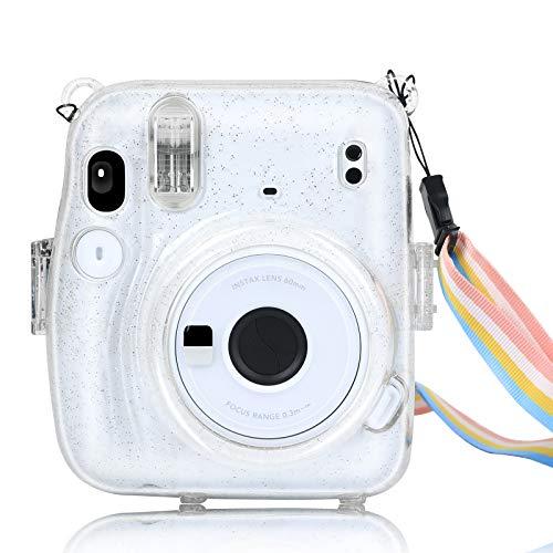 YEMXAM Bolsa para cámara instantánea Compatible con Instax Mini 11, Funda para cámara, PVC Duro Transparente, Funda Protectora para Bolsa de Viaje para cámara,anticaídas y arañazos (Transparente)