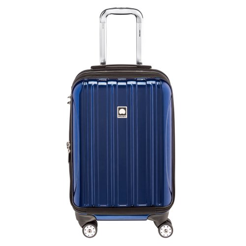 DELSEY Paris Helium Aero Hardside Expandable Luggage with Spinner Wheels, Blue Cobalt, Carry-On 19 Inch