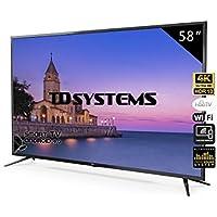 Televisores Smart TV 58 Pulgadas 4K / Android 9.0 / Hbbtv / 1500 PCI Hz/ 3X HDMI/ 2X USB/UHD HDR10/DVB-T2/C/S2/ televisiones led TD Systems K58DLJ10US