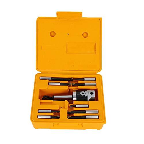 Futchoy Kit de têtes de forage/extracteur MK2 M10 F1-12 50 mm avec 9 barres de perçage de 12 mm et 1 mallette en plastique