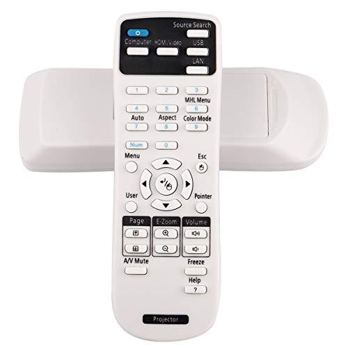 Aimdio Telecomando del Proiettore per Epson EB-1930 EH-TW650 EH-TW5650 EB- X11 X41 98 S41 X39 X27 S31 1930 X18 X31 485W 585WI W32 S11 1430Wi PowerLite 485W 475Wi 480i EX3220 EX6220