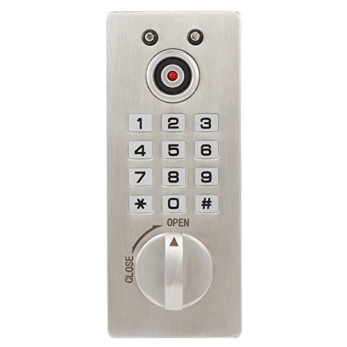 Cerradura codificada del gabinete, Cajón codificado de gabinete fácil de usar 3 x AAA batería alcalina Alloy de zinc Made 1-9 dígitos para puerta interior/exterior