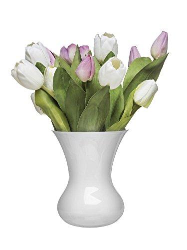 Sagaform Blomma Glasvase, Glas, Weiß, 13 x 13 x 16 cm