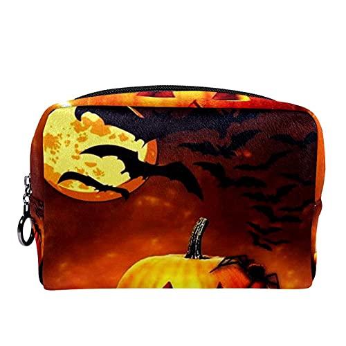Make-up Tas Origanizer Draagbare Reizen Cosmetische Case Halloween Gelukkig Vanavond Opslag Grote Pocket Rits