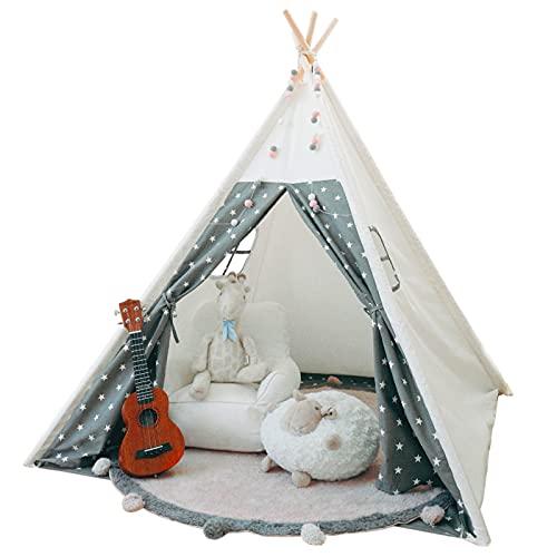 Tacobear Teepee Tenda per Bambini Grande Tenda Indiana Tenda da Gioco Portatile Tenda da Gioco Castello Giochi per Interni Teepee Tenda per Bambina