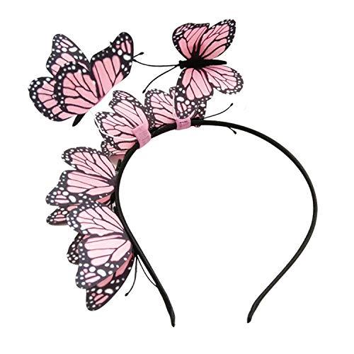 Goseare Stile Farfalla Fascia per Capelli Cerchietto per Capelli Headwears per Ragazze Donne Le Signore Matrimonio Compleanno Festival di Natale Roasa