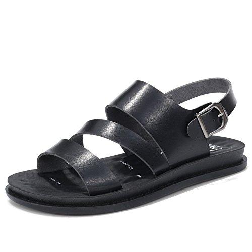 Kingwhisht Women Beach Sandals Genuine Split Leather Women Slippers Flip Flops Sneakers Casual Summer Shoes Black