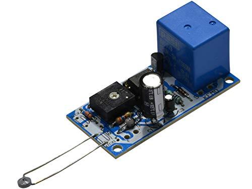 Kemo Electronic - KIT termostato caldo freddo soglia regolabile sonda NTC 12V DC con uscita a relè