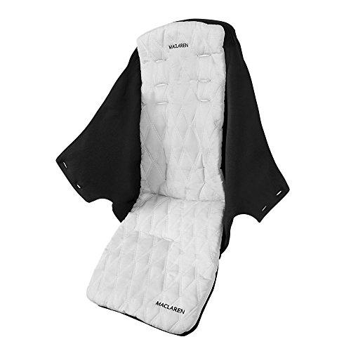 Maclaren Techno XLR Siège - Siège remplaçable et lavable en machine qui convient aux poussettes Techno XLR. Disponible en noir / argent