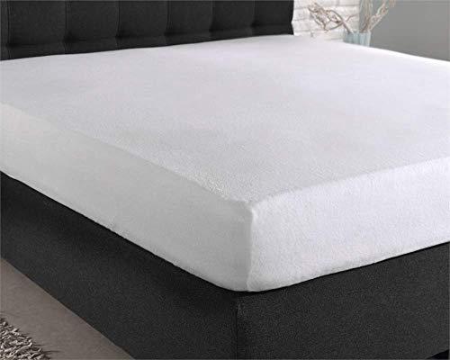 Hoeslaken Molton, matrasbeschermer voor boxsprings en waterbedden, anti-allergische, 180 x 200 cm