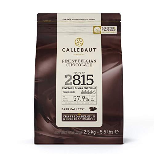 CALLEBAUT Receipe No. 2815 - Kuvertüre Callets, Zartbitterschokolade, 57,7% Kakao, 1x 2500 G