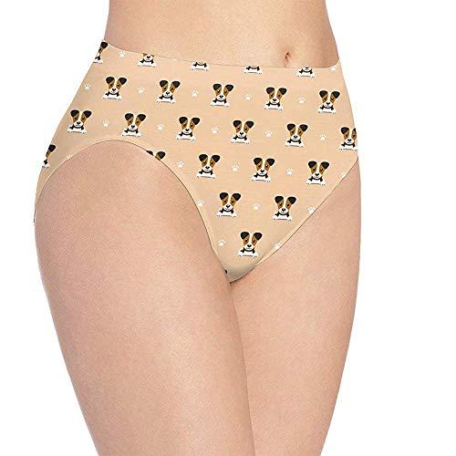 Ondergoed Dames Leuke Jack Russell Terrier Print Ondergoed, Meisjes Leuke Hipster Briefs Broek, Maat L