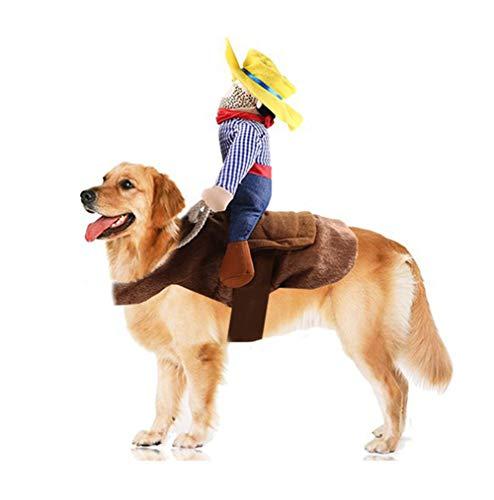 TFWJ Weihnachten Katze Hund Kleider Warm Hundemantel Western Cowboy Design Haustier Mantel,L