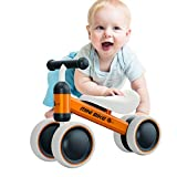 Baby Balance Bikes Bicycle Baby Walker Rides Toys for 1 Year Boys Girls 10 Months-24 Months Baby's First Bike First Birthday Gift Orange