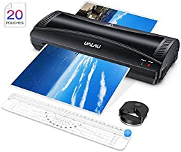 UALAU Laminator Machine, 9 Inches Hot & Cold Fast Lamination with Laminating Pouches,..