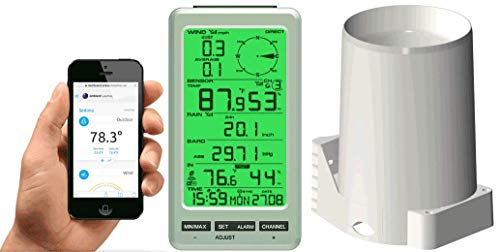 Ambient Weather WS-50-RAIN WiFi Smart Weather Station w/Rain Gauge