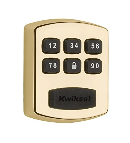 Kwikset 99050-002 Model 905 Value Lock Keyless Entry Electronic Keypad Deadbolt for Garage or Side Door, Polished Brass